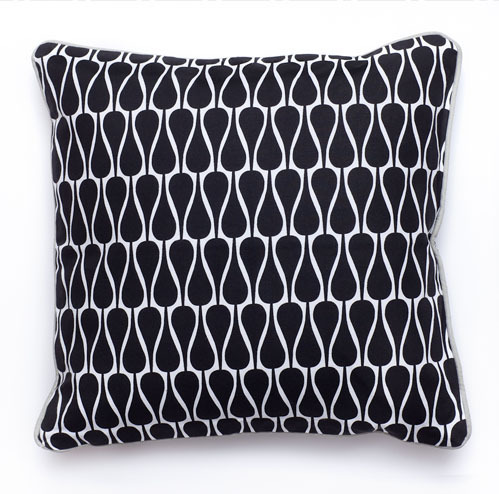 Pillow SEEDS Graphic Black 50x50
