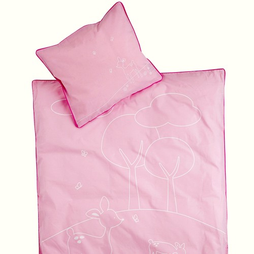 SNE design Junior Bed linen set -pink