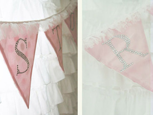 Toriee Crystal Initial Party Flag
