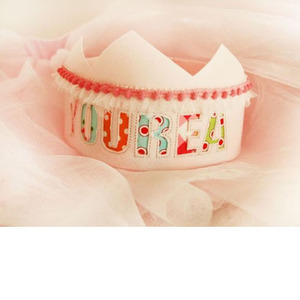 Toriee Special Initial Fabric Crown