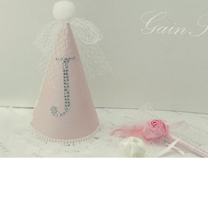 Toriee Crystal Initial Party Hat