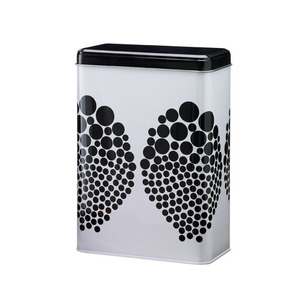 Can in black and white dots design