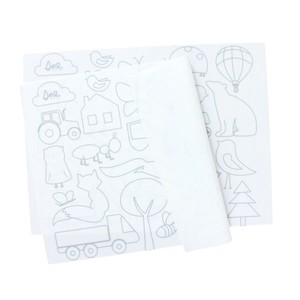 SNE design Placemat- fantasy forest white