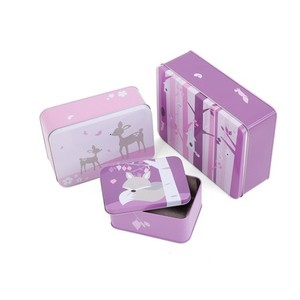 SNE design Tin case set-pink